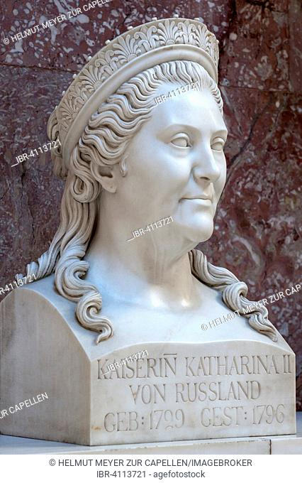 Bust of Catherine II., The Great of Russia, 1729-1796, Wallhalla, Donaustauf, Upper Palatinate, Bavaria, Germany