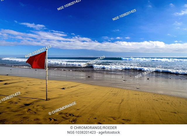 a red flag is a sign of bathing prohibition on the beach