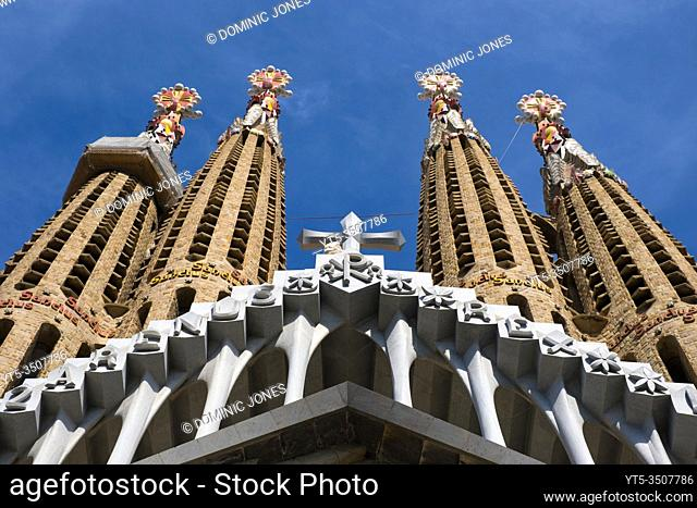 Detail of the Nativity Facade of Sagrada Família