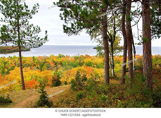 Sven's Bluff, Peninsula State Park, Door County, Wisconsin, USA