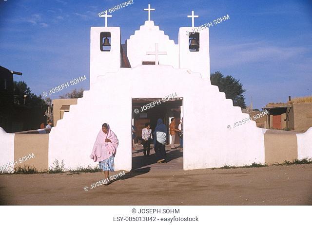 Adobe chapel, Taos Pueblo, NM