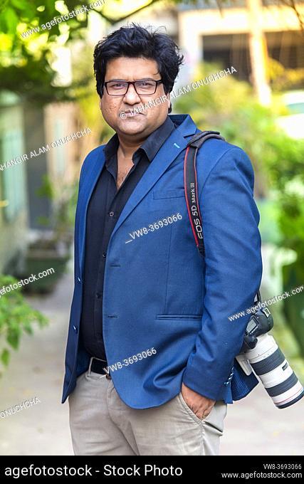 "Bangladesh â. "" January 24, 2018: An Outdoor portrait of the modern film director and screenwriter artist Dipankar Dipon at Banani, Dhaka"