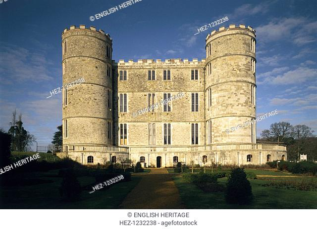 South elevation, Lulworth Castle, Dorset, 1997. Lulworth Castle is an early 17th century hunting lodge