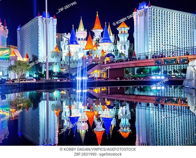 The Excalibur Hotel and Casino in Las Vegas , The Hotel was named after King Arthur's sword and opened in 1990