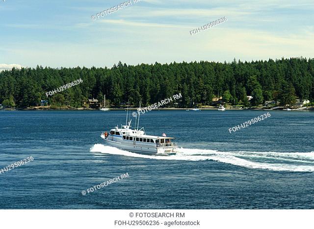 San Juan Island, WA, Washington, Puget Sound, San Juan Islands, Friday Harbor, Washington State ferry to British Columbia, Canada, tour boat