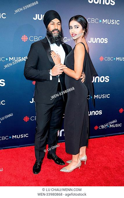 2018 JUNO Awards, held at the Rogers Arena in Vancouver, Canada. Featuring: Jagmeet Singh, Gurkiran Kaur Where: Vancouver, British Columbia