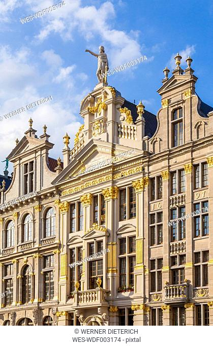 Belgium, Brussels, Grand Place, Grote Markt, guildhall Maison de la Chaloupe d'Or