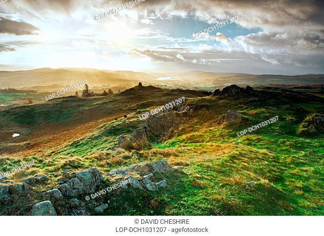 Daybreak over Esthwaite Water in Cumbria