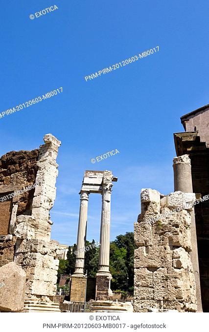 Ruins of buildings, Roman Forum, Rome, Lazio, Italy