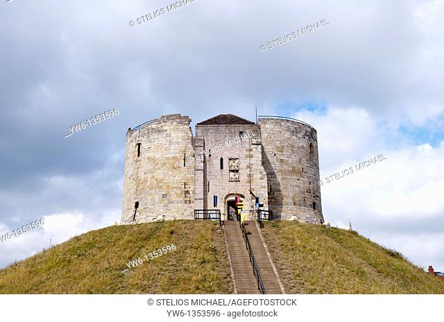 Clifford's Tower in York,England