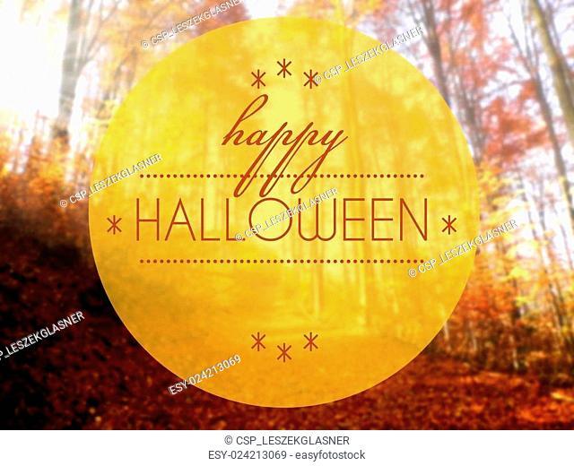 Happy Halloween Autumn conceptual creative illustration