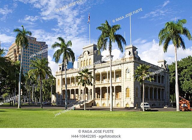 USA, America, United States, North America, Hawaii State, Honolulu City, Oahu Island, October 2007, Iolani Palace, for