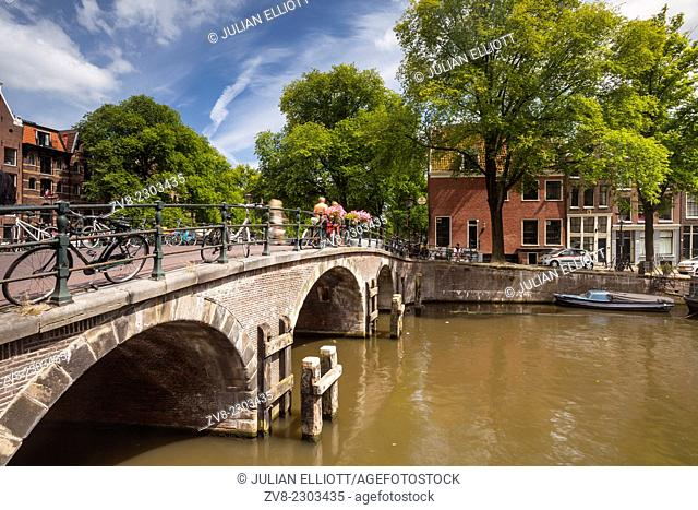 The Prinsengracht canal in Amsterdam. The area is designated as a World Heritage Site by UNESCO