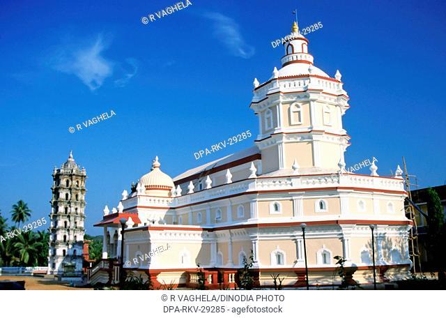 Shri Mangesh shantadurga  Temple ; Ponda ; Goa ; Maharashtra ; India