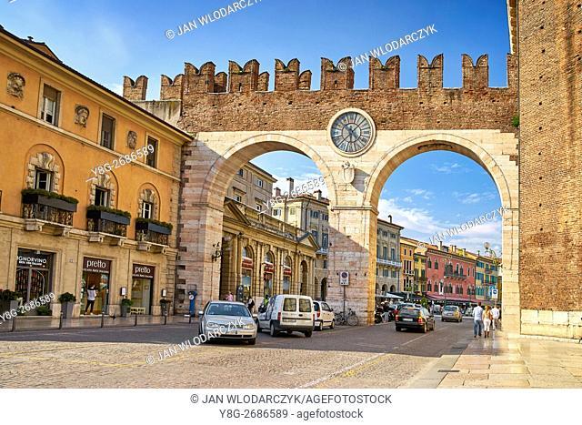 Portoni della Bra, Piazza Bra, Verona old town, Veneto region, Italy
