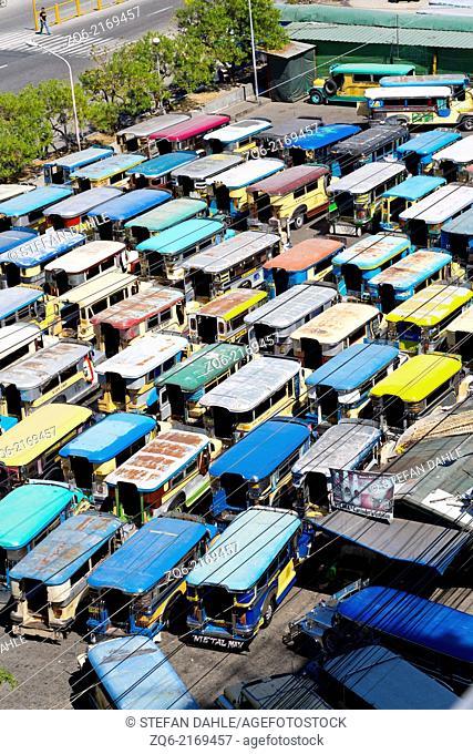 Jeepneys in Angeles City, Luzon, Philippines