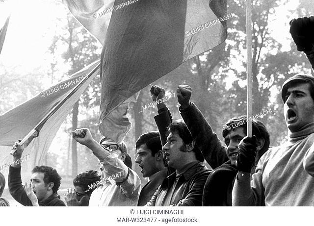 roma 1968, movimento studentesco, studenti di sinistra