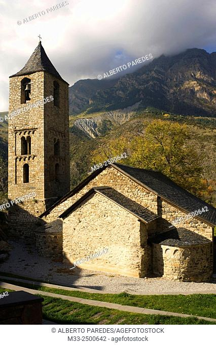 Sant Joan de Boi romanesque church. Vall de Boi, Lleida, Catalonia, Spain