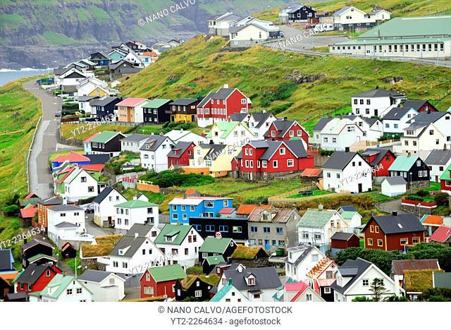 Eiði, large village located on the north-west tip of Eysturoy, Faroe Islands