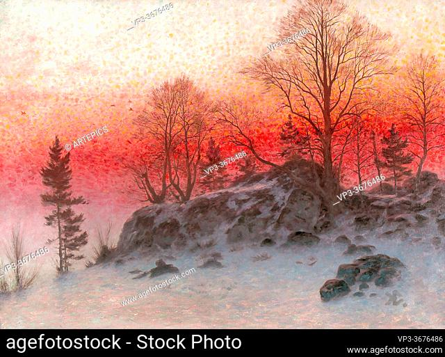 Ekwall Knut - a Winter's Evening - Swedish School - 19th Century