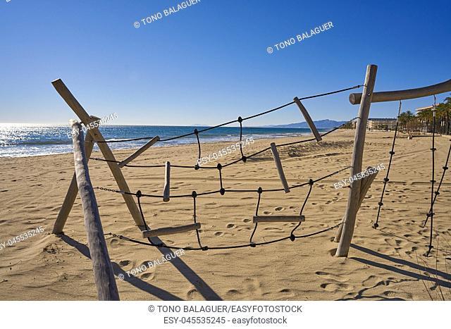 Salou beach Ponent Poniente platja in Tarragona of Catalonia