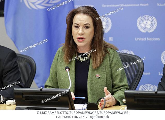 United Nations, New York, USA, March 28, 2019 - Maria Fernanda Espinosa Garces, President of the seventy-third session of the General Assembly