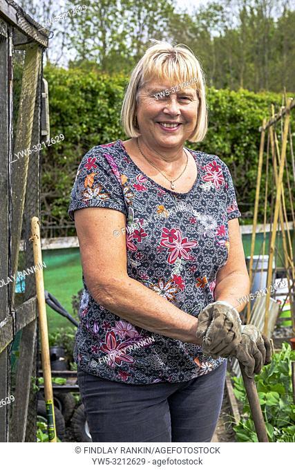 Image of SUZANNE BLAKLEY, Plot 40 Eglinton Gardens, Kilwinning, Eglinton Growers Allotments, Kilwinning, Ayrshire, Scotland, UK