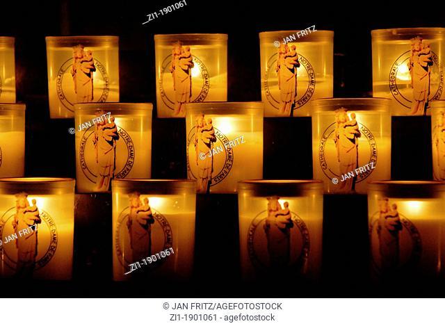 candles at the Notre Dame, Paris