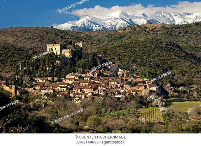Medieval town of Castelnou, member of the association Most Beautiful Villages in France