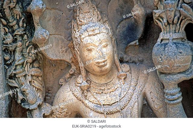 Sculpture detail,Vatadage, Polonnaruwa, Sri Lanka