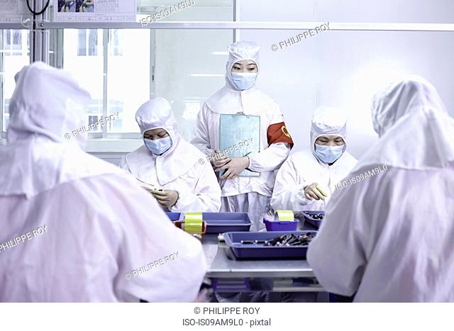 Workers in ecigarette factory