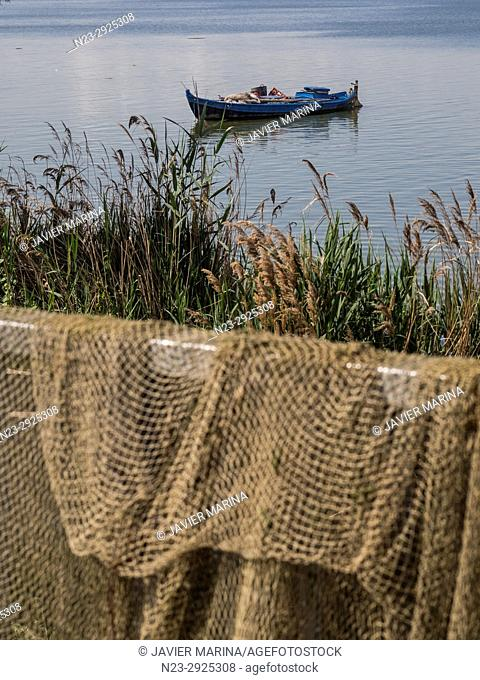 Fishing nets in the Albufera, Valencia, Spain