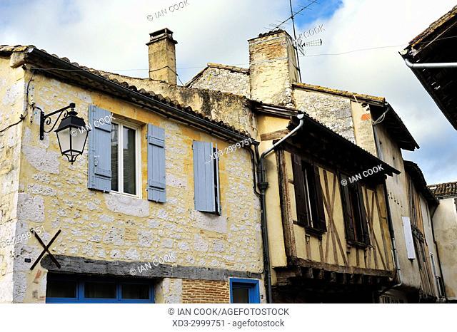 medieval architecture, Issigeac, Dordogne Department, Aquitaine, France