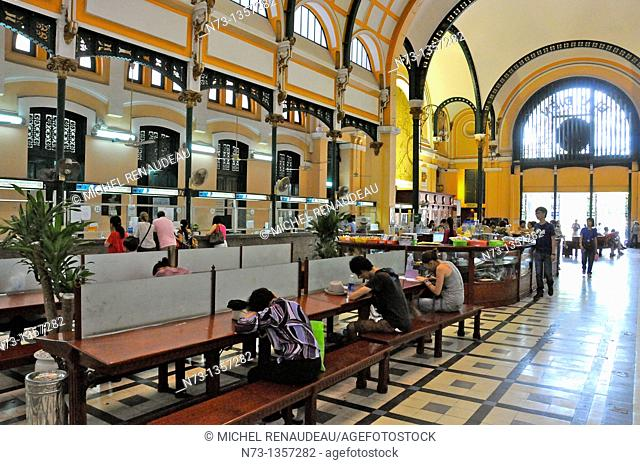 Vietnam, Saigon Ho Chi Minh City the main post office built by the French