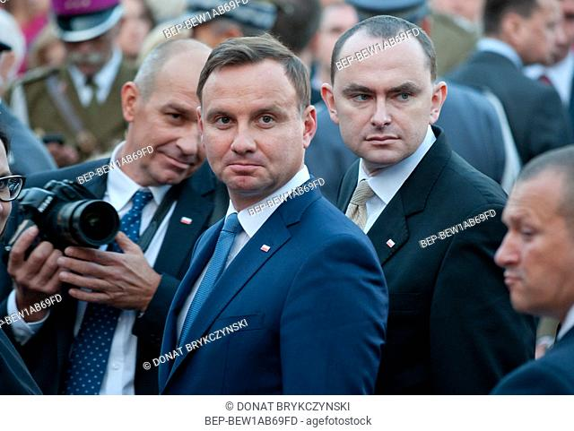July 31, 2015. The proceedings of 71th anniversary of Warsaw Uprising. Pictured: Andrzej Duda. Warsaw, Poland