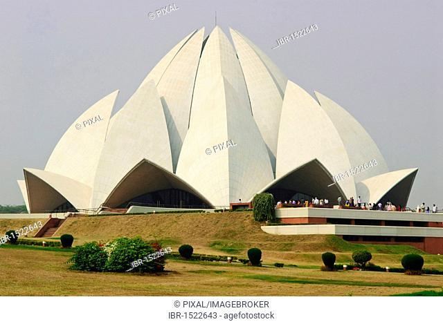 Bahá'í House of Worship, Lotus Temple, New Delhi, India, Asia