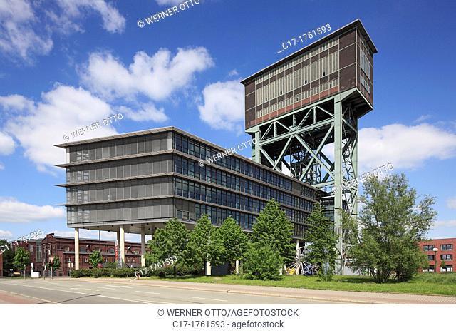 Germany, Dortmund, Ruhr area, Westphalia, North Rhine-Westphalia, NRW, Dortmund-Eving, former colliery Minister Stein, hard coal mine, hammerhead pit tower