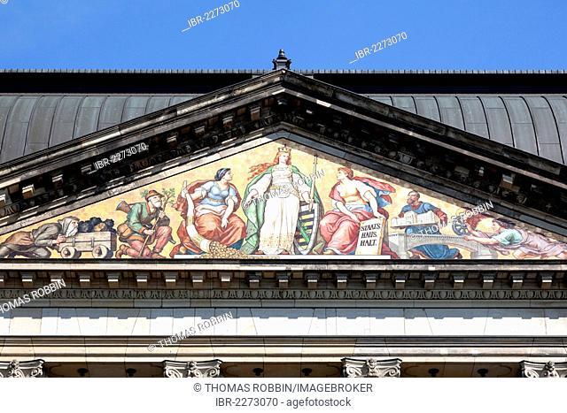 Saxon ministry of finance, Neustadt, Dresden, Saxony, Germany, Europe, PublicGround