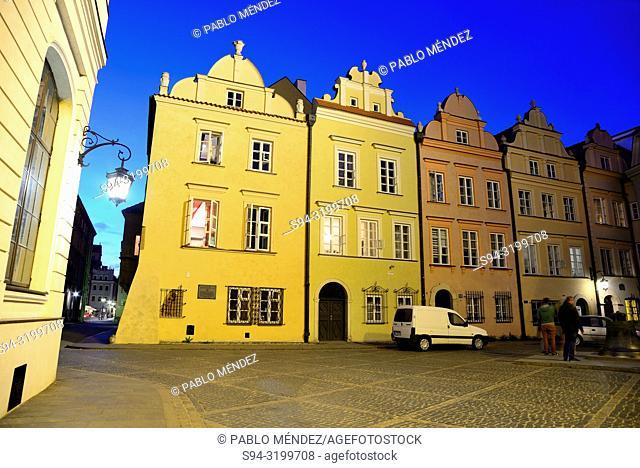 Bell square in Stare Miasto, Warsaw, Poland