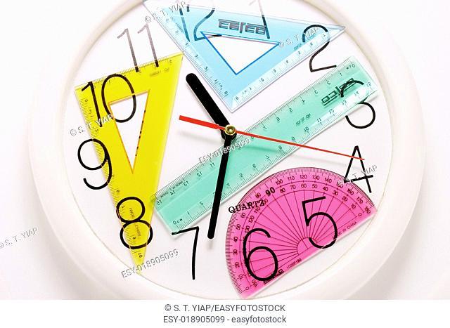 Geometry set on clock