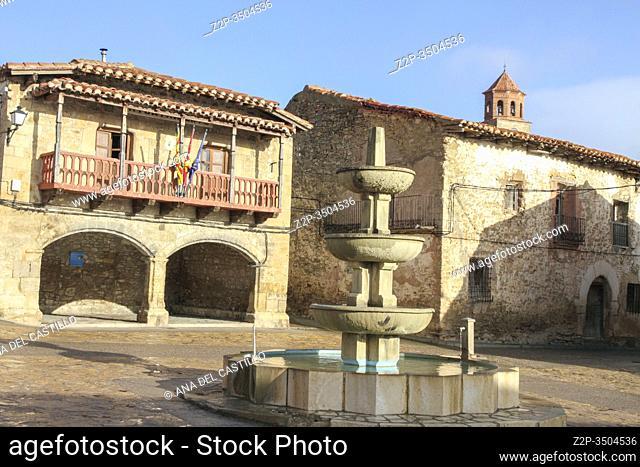 Medieval town hall in Terriente village Teruel Spain