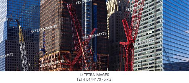 USA, New York, New York City, Construction site of World Trade Center