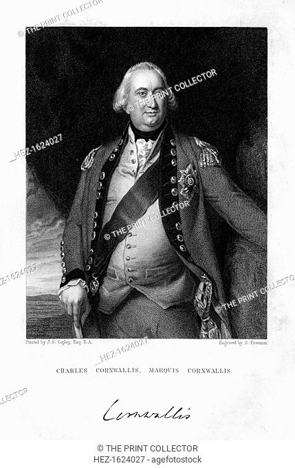 Charles Cornwallis (1738-1805), 1st Marquess Cornwallis, 1839. Cornwallis was an English military commander and colonial governor