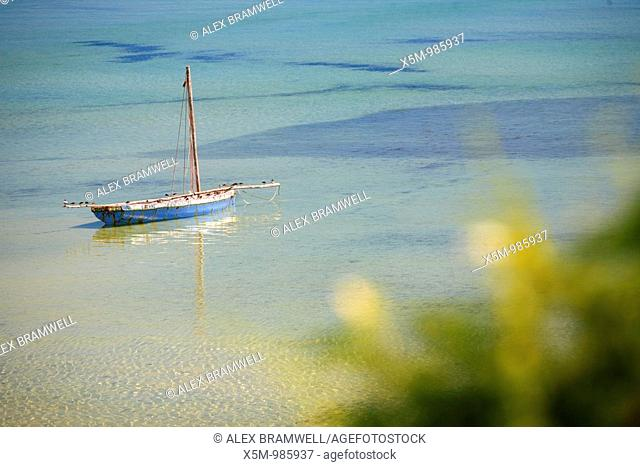 Dhow moored off the Coast of Mozambique at Vilanculos