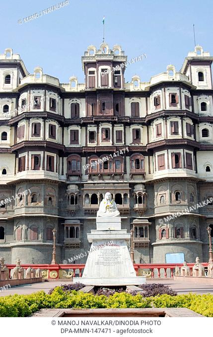 Rajwada the Holkar palace ; statue of Devi Ahilya bai Holkar ; Indore ; Madhya Pradesh ; India