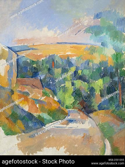 The Bend in the Road, Paul Cezanne, 1900-1906, National Gallery of Art, Washington DC, USA, North America