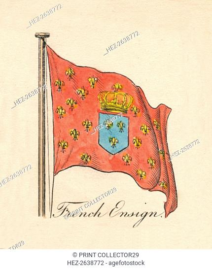 'French Ensign', 1838. Artist: Unknown
