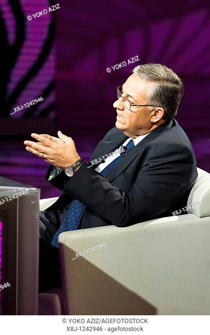 16 10 2010, Milan, RAI 3, Television show 'Che tempo che fa'  Chief Prosecutor of Reggio Calabria Giuseppe Pignatone