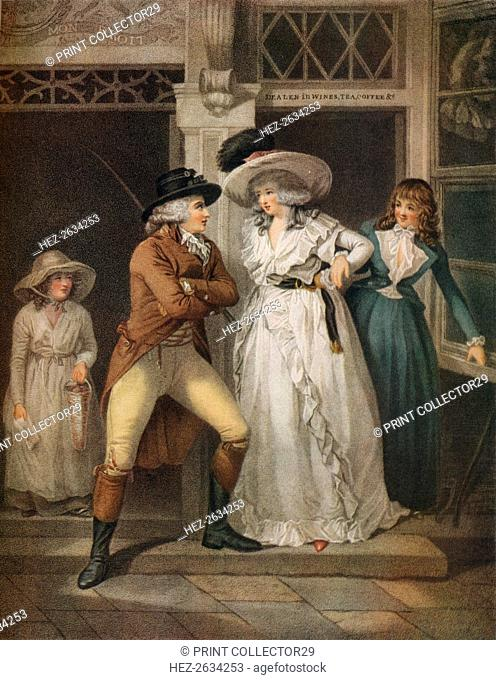 'The Tavern Door, Laetitia Deserted by her Seducer is Thrown on the Town', 1789. Artist: John Raphael Smith