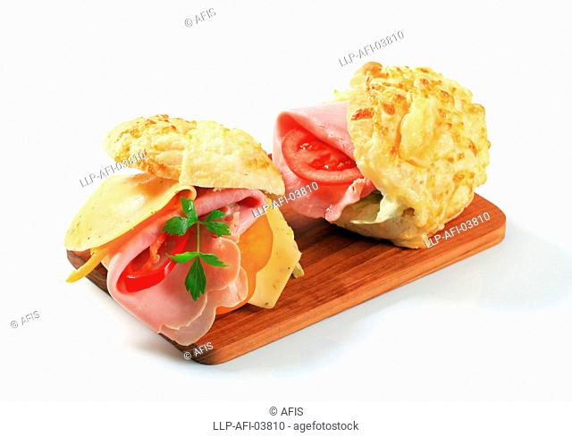 Ham and cheese sandwiches